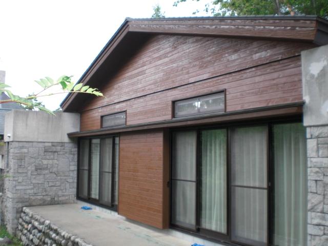 外壁リフォーム 八ヶ岳 宿泊施設
